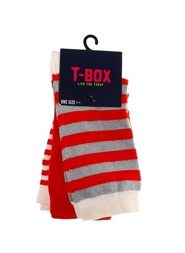 T-Box Soket Çorap Kırmızı